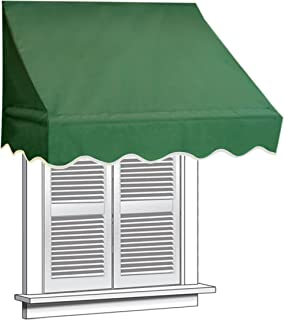 ALEKO 8x2 Green Window Awning Door Canopy 8-Foot Decorator Awning