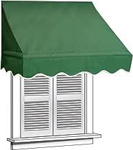 ALEKO 8x2 Green Window Awning Door Canopy 8-Foot Decorator Awning