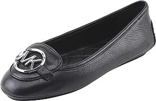 Michael Michael Kors Women's Lillie Moccasin Flats Size 8 B(M) US Women in Black, Style 40T9LIFP2L.