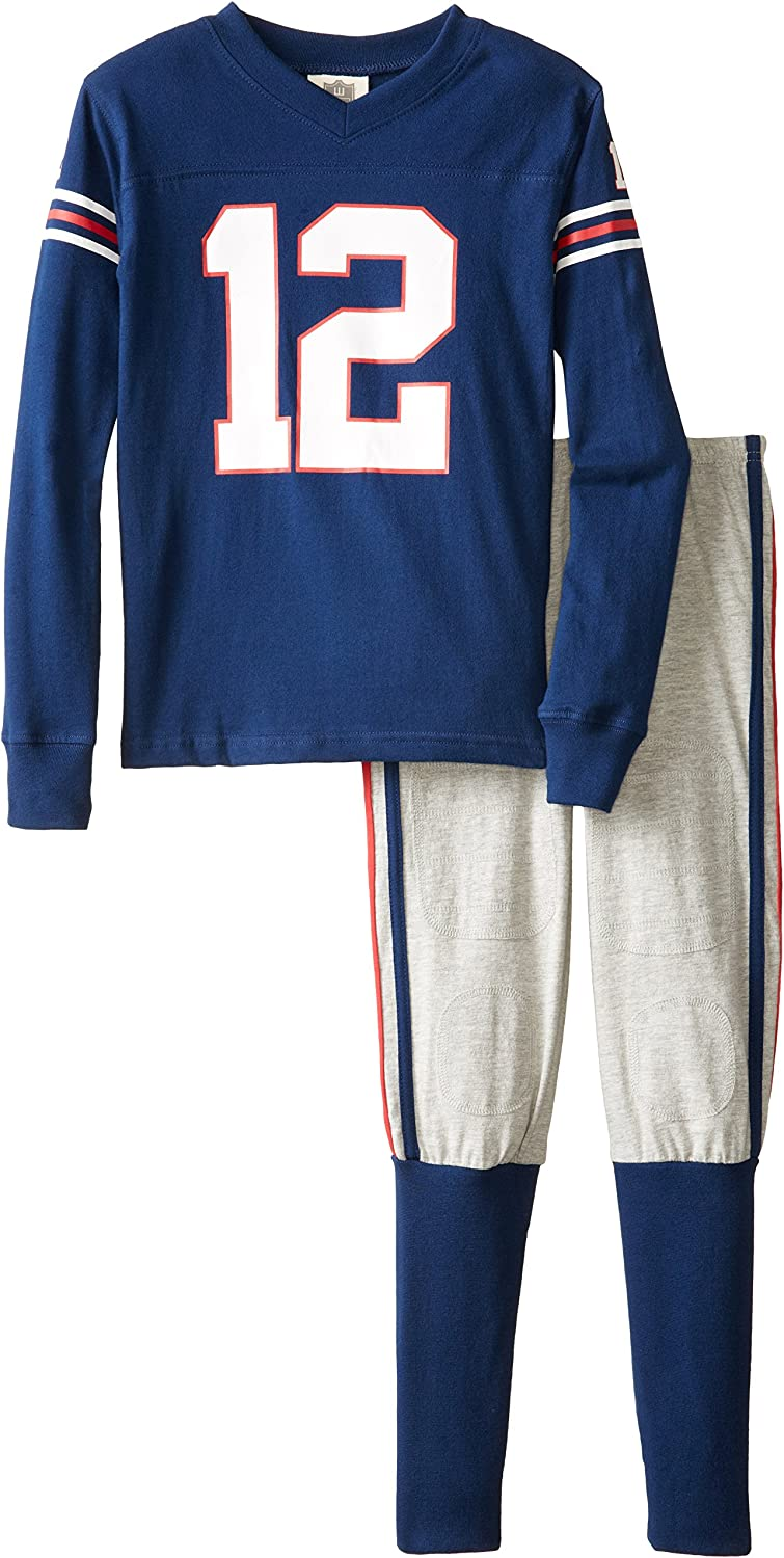 Time sale Wes Great interest Willy Boy's Long Sleeve Pajama Set Football 12