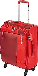 حقيبة سفر صغيرة للأمتعة من American Tourister Marina Soft Cabin باللون الأحمر، مقاس 57 سم