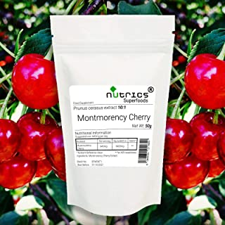 Nutrics® 10:1 Montmorency - Tarta de extracto de cereza, 50 g en polvo