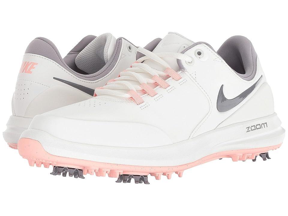 Nike Golf Air Zoom Accurate (Summit White/Gunsmoke/Bleached Coral) Women