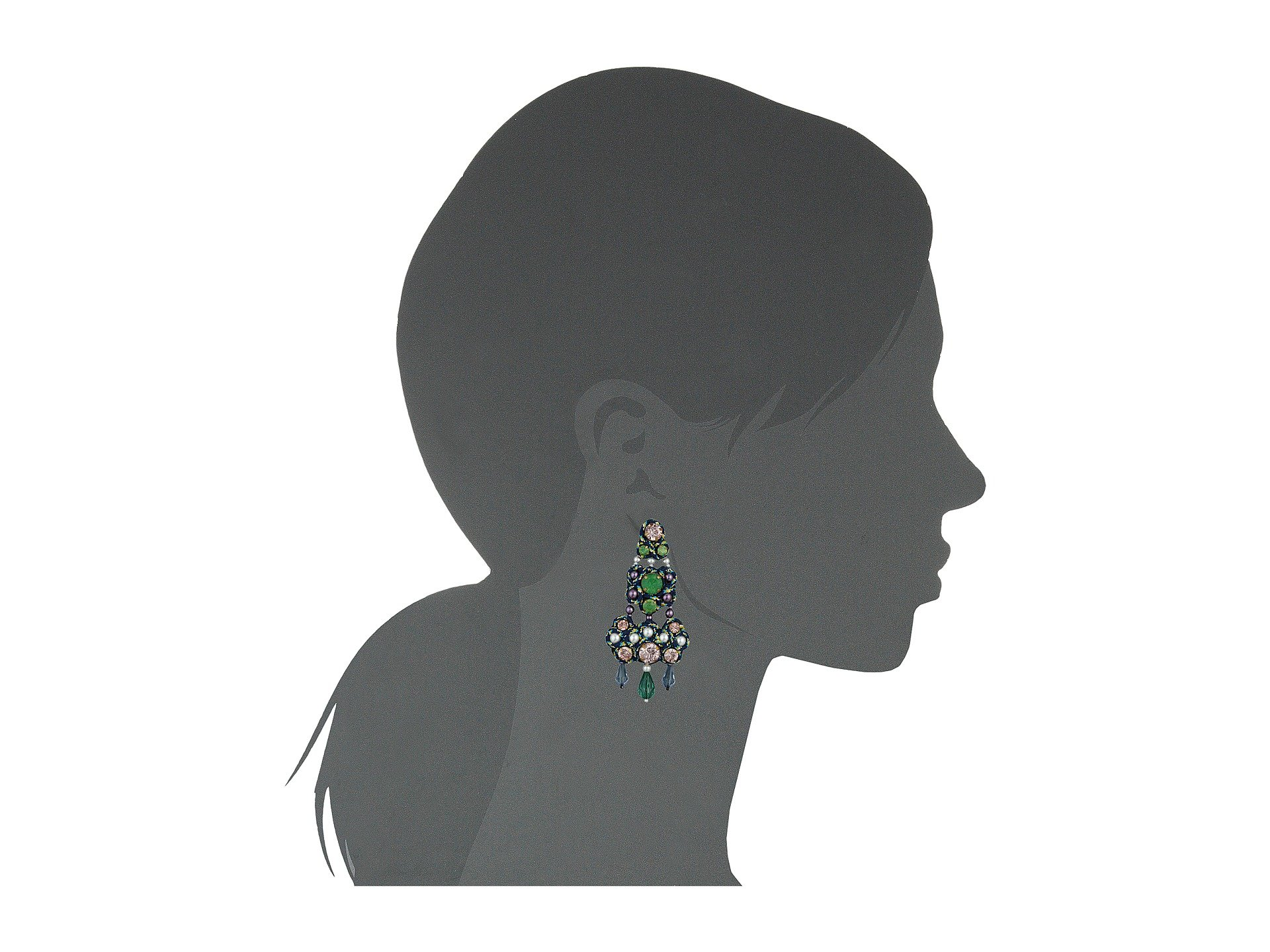 Tory burch beaded chandelier earrings at zappos mozeypictures Choice Image