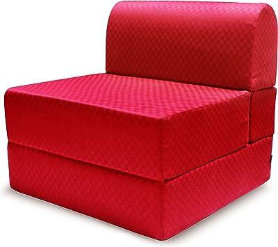"Story@Home Single Seater Futon Sofa Cum Bed Maroon (75"" X 30"" X 8"")"