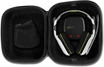 Casematix Gaming Headset Travel Case Bag Compatible with Astro A50 , A40 tr and Microphone with Wired or Wireless Headphones for Pc Mac PS4 and Xbox