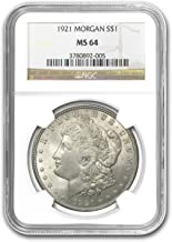 1921 Morgan Dollar MS-64 NGC $1 MS-64 NGC