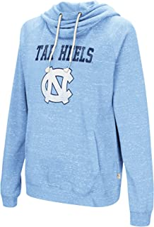 Colosseum NCAA Women's-I'll Go with You-Cowl Neck Hoody Sweatshirt-Team Color and Distressed Vintage Logo