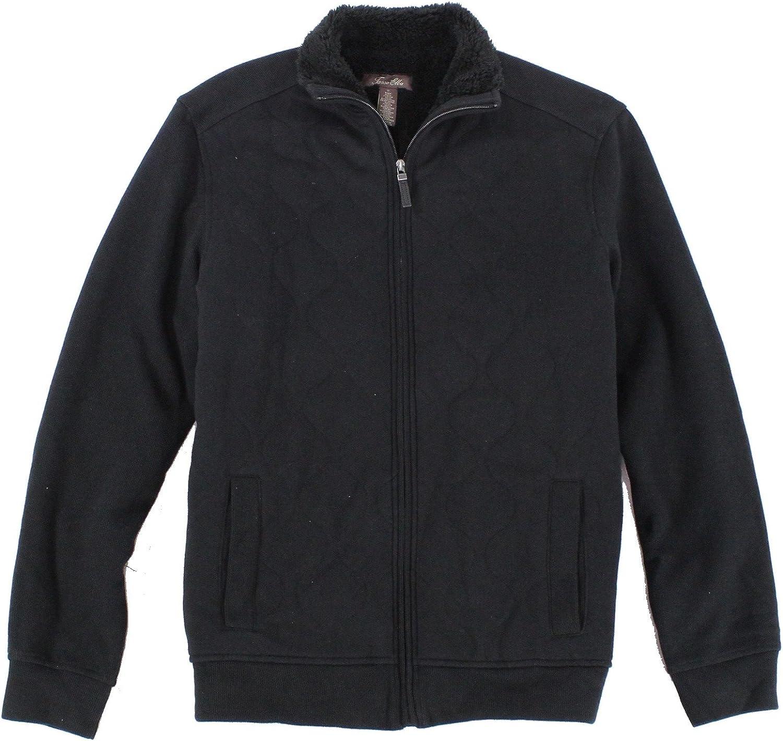 Tasso Elba Mens Long Sleeve Quilted Jacket