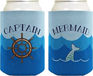 Custom Can Coolie Beach Gift Stubby Holder Beach Accessories, Drink Like a Fish Coozie Drink Like a Mermaid Can Cooler Bar Swag