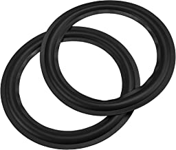 """Bluecell 2pcs Black Color 10"""" Rubber Speaker Edge Surround Rings Replacement Parts for Speaker Repair or DIY (10"""