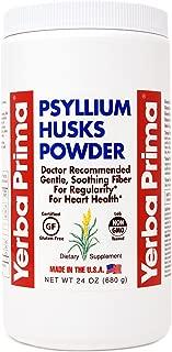 Yerba Prima Psyllium Husk Powder - 24 Ounce - Fine Ground, Unflavored Fiber Supplement