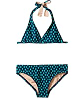 Toobydoo - Navy Drop Pattern Bikini (Infant/Toddler/Little Kids/Big Kids)