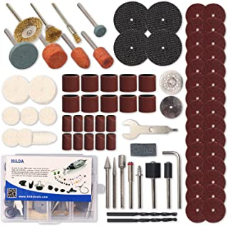 HILDA 92 Pcs Rotary Tool Accessories Kit, 1/8-inch Diameter Shanks Dremel