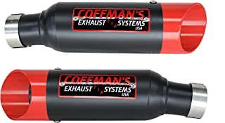 Coffman's Shorty Exhaust for Susuki GSXR 1300 (2008-2018) Sportbike with Red Tips