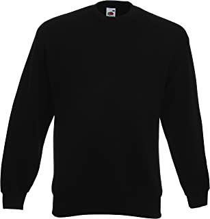 Fruit of the Loom Mens Classic Drop Shoulder Sweatshirt Black M