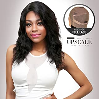 UpScale 100% Virgin Glueless Remi Human Hair Hand Made Unprocessed Brazilian Human Full Lace Wig Loose Wave 150% Density NATURAL Color 16