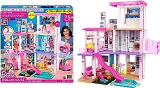 Barbie GRG93 - Dom marzeń, trzypiętrowy domek dla lalek (114 cm) z basenem, zjeżdżalnią, windą, światłem i dźwiękiem, od 3...