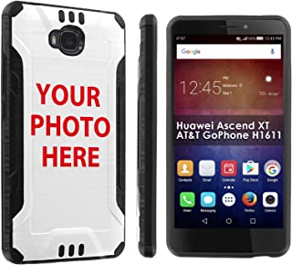 [POPCulture] Custom Rugged Case For Huawei Ascend XT [AT&T GoPhone H1611] Create Your Own Custom Phone Case [0] Shock Absorbent Hybrid Case