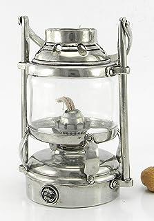 Lampada Lanterna tempesta marinara lucerna a petrolio. Antivento. Personalizzabile. Design Italiano, handmade, in peltro f...