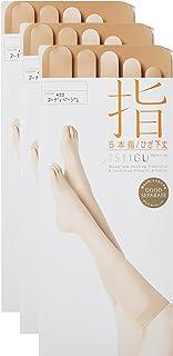 (アツギ)ATSUGI ストッキング ASTIGU(アスティーグ) 【指】 5本指 ひざ下丈 ストッキング 〈3足組〉