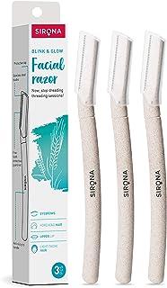Sirona Blink And Glow Face Razor For Women, Reusable & Biodegradable Razor, Facial & Upper Lips Hair Removal, Eyebrow Shap...