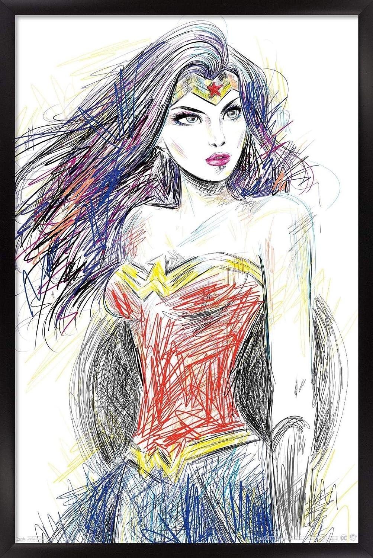 Trends International DC Max 62% OFF Comics - Woman Post Wall Over item handling Wonder Sketch