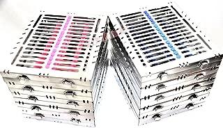 10GERMAN Dental Autoclave Sterilization Cassette Tray for 15 Instruments 8.25X7.25X1.25