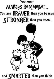 Winnie The Pooh Wall Decal is a High Quality Vinyl Wall Decal Displaying a Winnie Pooh Believe Quote