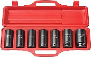 TEKTON 3/4-Inch Drive Deep Impact Socket Set, Inch, Cr-V, 6-Point, 15/16-Inch - 1-1/2-Inch, 7-Sockets | 4890