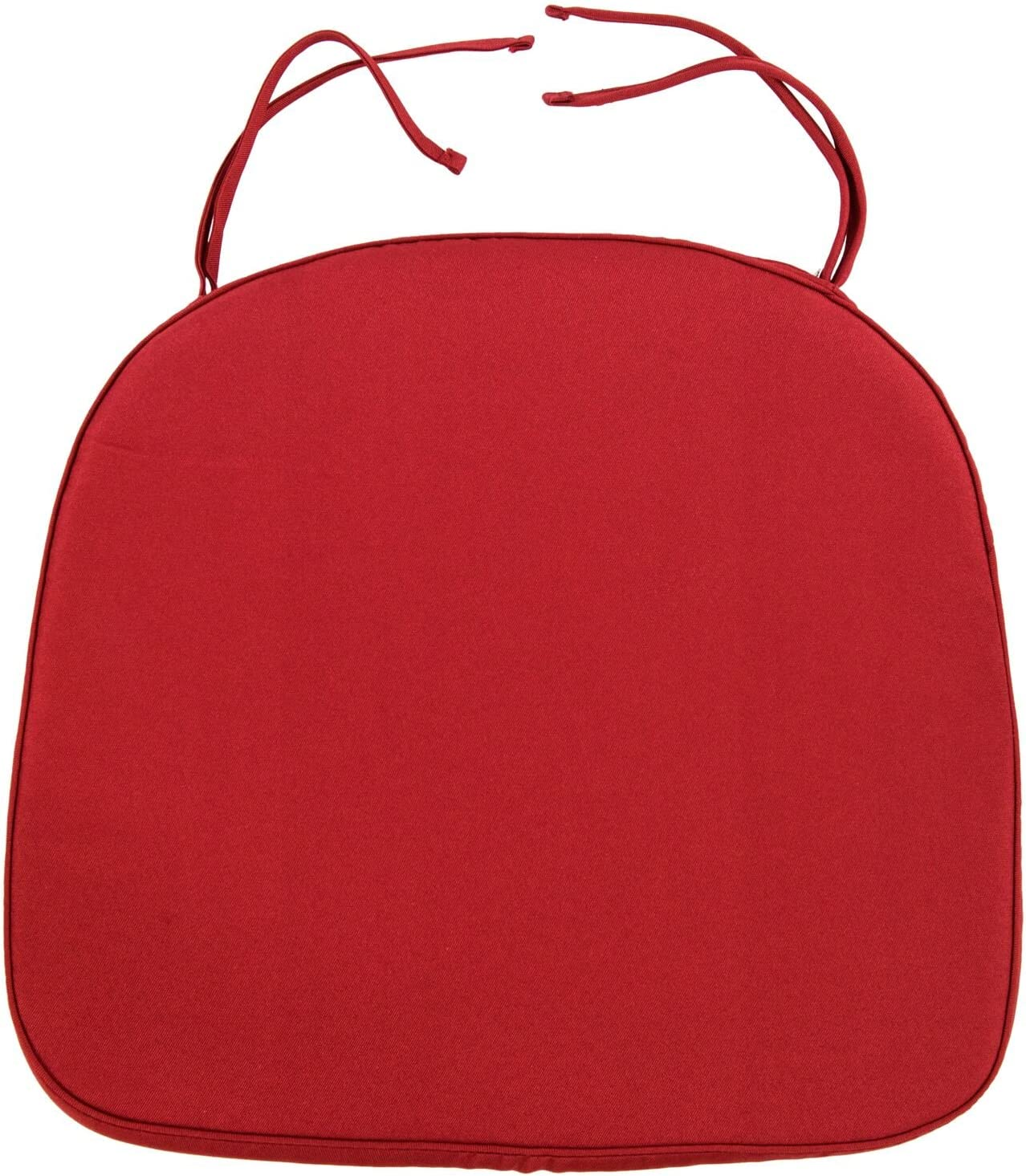 LeisureMod Charlotte Mall Modern Dining Max 61% OFF Chair Pad Cushion Red
