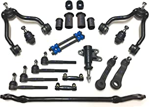 PartsW 22 Pc Suspension Kit for Cadillac Chevrolet GMC/Center Link, Control Arms, Lower Ball Joints, Idler & Pitman Arms, Adjusting Sleeve, Stabilizer Bar Bushing Kit 30.5 mm / 1.2 inch (Includes 2)