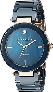 Reloj de pulsera de cerámica con diamantes auténticos para mujer