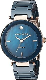 Women's Genuine Diamond-Accented Ceramic Bracelet Watch