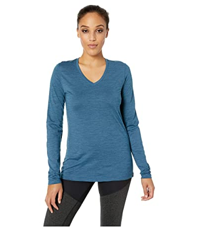 Smartwool Merino Sport 150 Long Sleeve (Marlin Blue Heather) Women