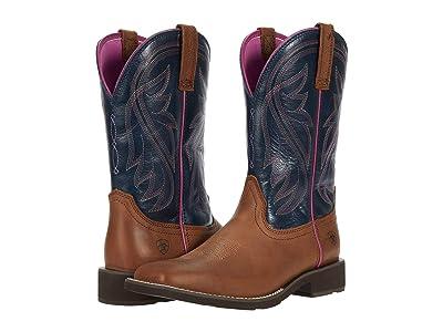 Ariat Azalea (Light Toffee/Navy) Cowboy Boots
