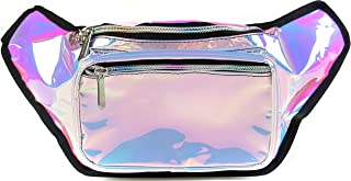 SoJourner Bum Bag Fanny Pack Holographic Blue | for women, men and kids | cute fits small medium large