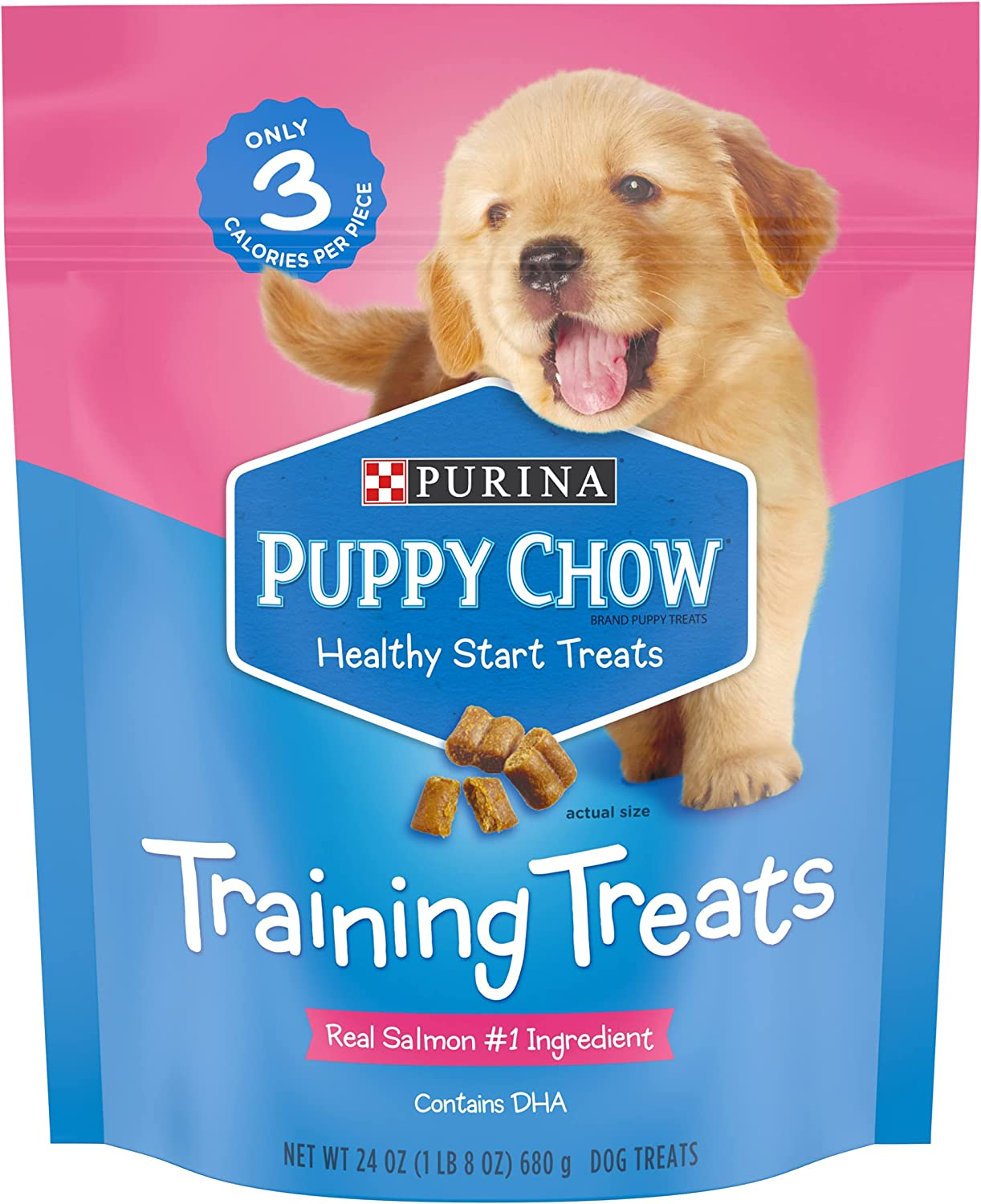 Purina Puppy High order Chow Training Treats Cash special price Salmon Start Healthy -