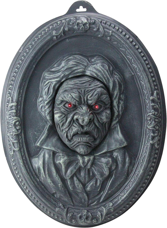 Northlight 19  Haunted Old Man Talking Vintage Portrait Halloween Wall Decor