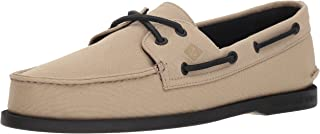 Sperry Men's A/O 2-Eye Surplus Boat Shoe, Natural/Black, 11.5 M US