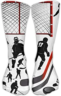 Unisex Hockey Player Pattern Comfortable Stockings Sport Socks Athletic Sock 50cm