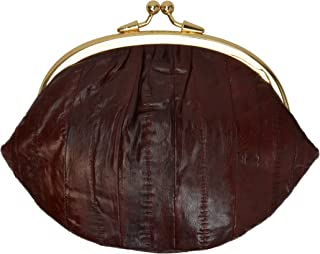 Eelskin Soft Leather Double Change Purse Organizer by Marshal