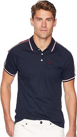 Short Sleeve Raglan Color Block Polo