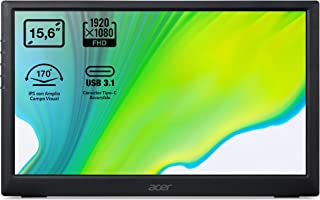 Acer PM (PM161Qbu) 40 cm (15,6 Zoll) IPS Portabler Monitor Matt (USB3.1 Type C, FHD 1920x1080, 60Hz, 220 Nits)