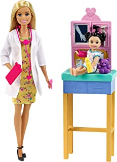 Barbie Pediatrician Playset, Blonde Doll...