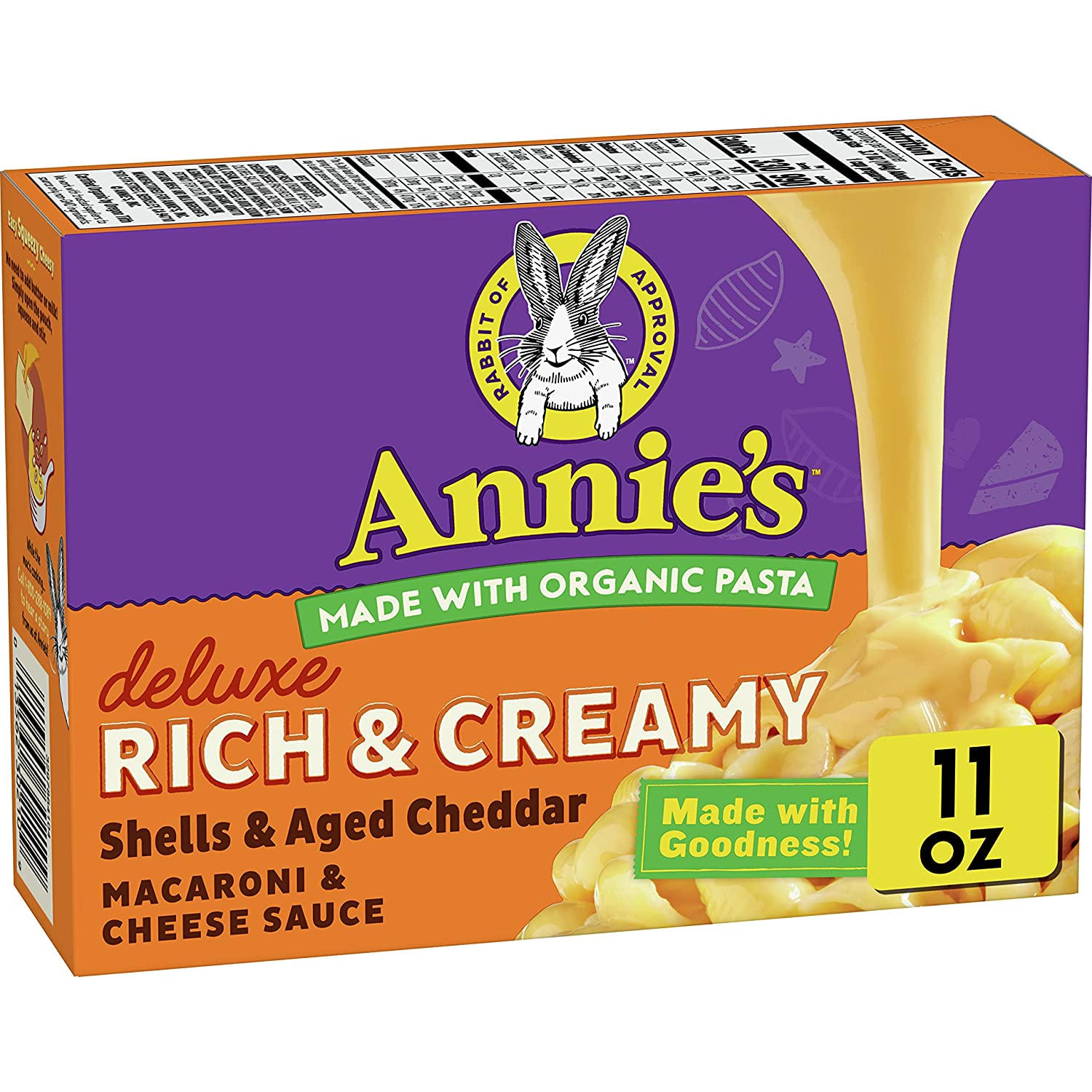 Annie's Creamy Delux Macaroni Dinner Aged Real Cheddar Direct store Shells Lowest price challenge