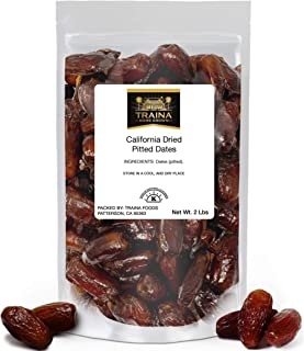 Sponsored Ad - Traina Home Grown California Dried Pitted Dates - No Added Sugar, Non GMO, Kosher Certified, Vegan, Packed ...