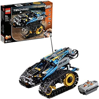 LEGO 42095 Technic Remote-Controlled Stunt Racer Toy, 2 in 1 Race Car Model with Power Functions Motor Building Set, Racin...