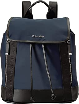 Calvin Klein - Florence Nylon Flap Backpack