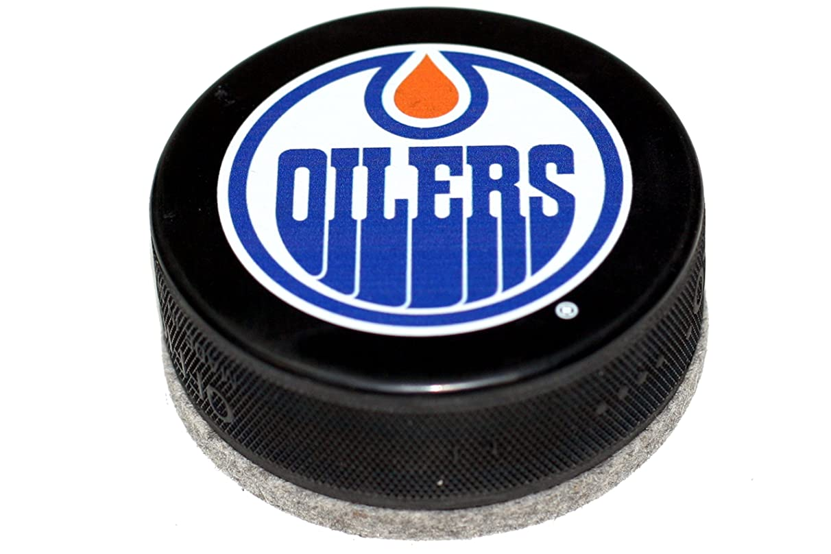 EBINGERS PLACE Edmonton Oilers Basic Series Hockey Puck Board Eraser for Chalk Boards and Whiteboards